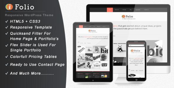 ThemeForest iFolio Clean WordPress CMS Portfolio Theme WordPress Creative Portfolio 3166326