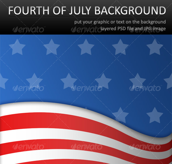 GraphicRiver Fourth of July Background 111870