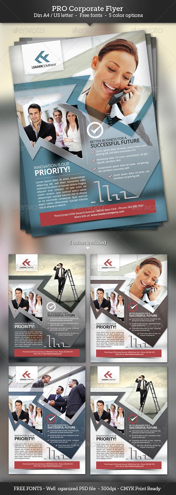 GraphicRiver Pro Corporate Flyer Template 3168398