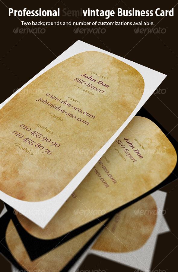 GraphicRiver Original Semivintage Business Card 112078