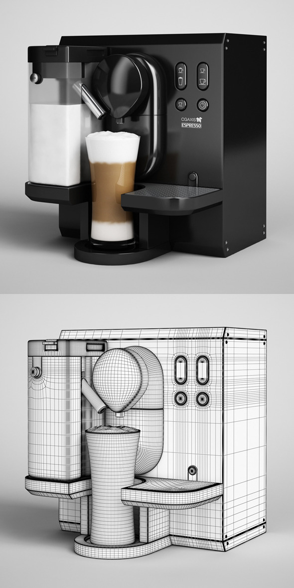 3DOcean CGAxis Espresso Machine 04 3D Models -  Furnishings  Appliances 327636