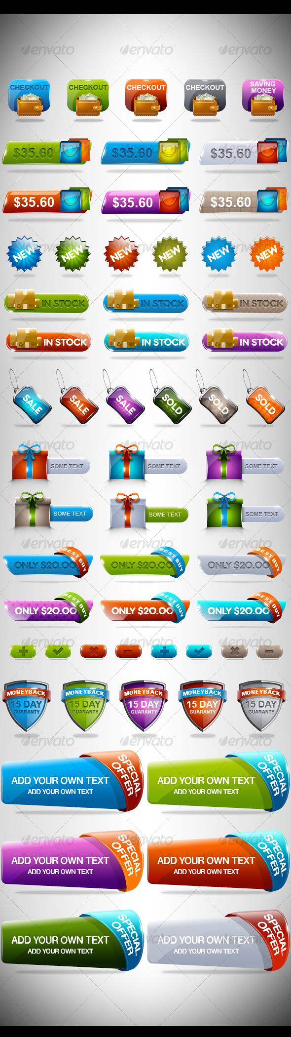 GraphicRiver Rainbow Sale Set 2 111601