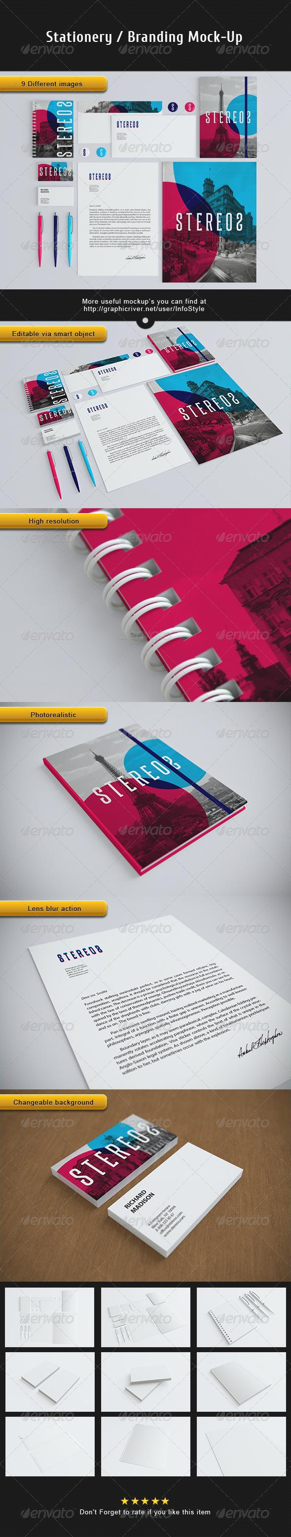 GraphicRiver Stationery Branding Mock-Up 3185034