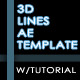 3D Lines AE Template - VideoHive Item for Sale