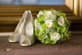 wedding shoes and flowers bouquet - PhotoDune Item for Sale