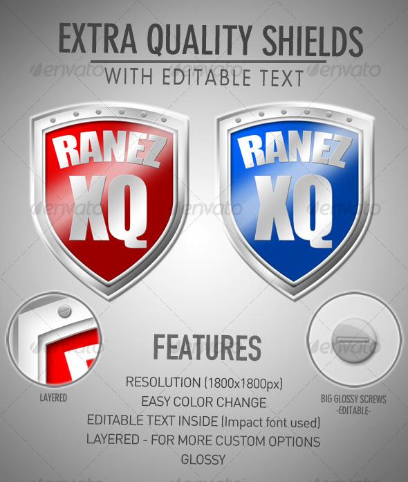 GraphicRiver Extra Quality Shields 111333