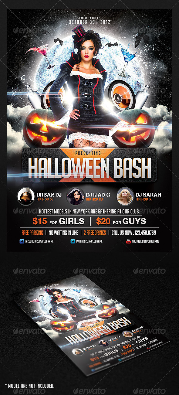 GraphicRiver Halloween Bash Flyer Template 3189229