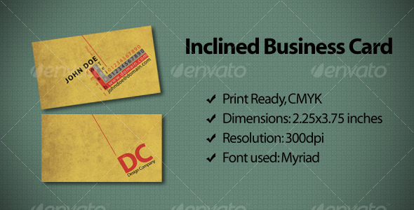 GraphicRiver Inclined Business Card 111859
