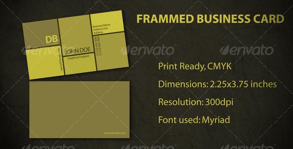 GraphicRiver Framed Business Card 111791