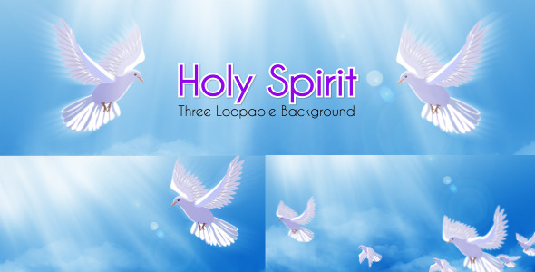 VideoHive Holy Spirit Dove Spiritual Loopable Background 3192547