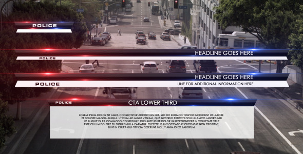 VideoHive Police Lower Third 3192904