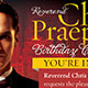 Pastor's Birthday Celebration Invitation Template - GraphicRiver Item for Sale