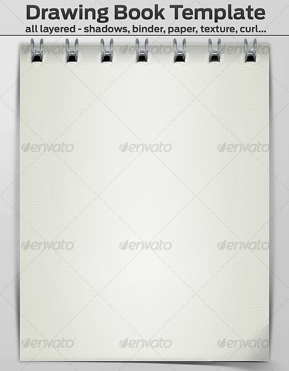 GraphicRiver Drawing Book Template Layered 112620