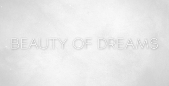 VideoHive Beauty of Dreams 3195537