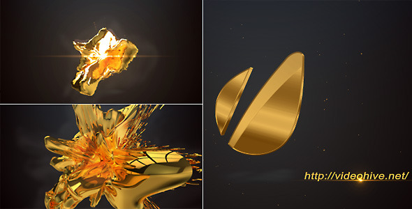 VideoHive 3D Gold Logo 3200900