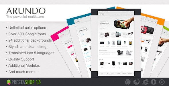 ThemeForest Arundo Premium Prestashop Theme eCommerce PrestaShop Technology 3059398