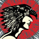 Man Indian Eagle Profile - GraphicRiver Item for Sale