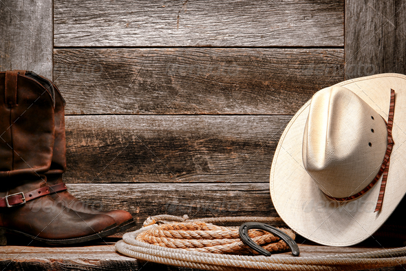 Cowboy Hat Background American West Rodeo Cowboy Hat