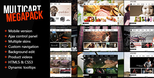 ThemeForest Multicart Premium Mobile Opencart Template eCommerce OpenCart 3173658