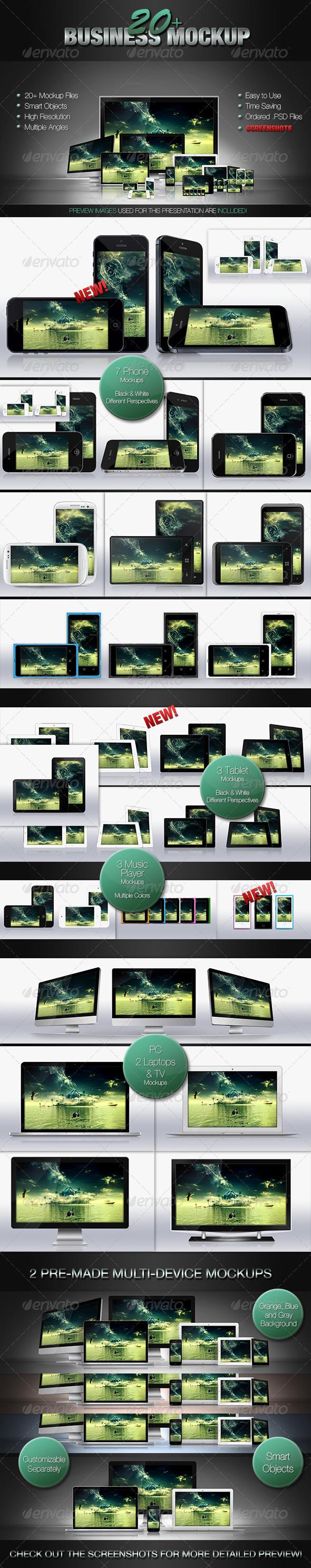 GraphicRiver 20& Business Mockups 3164601