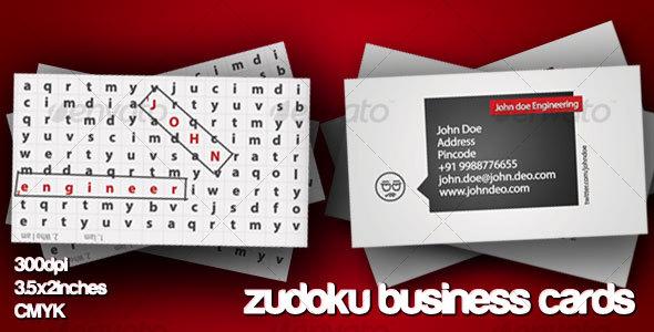 GraphicRiver Zudoku Business Card 108131