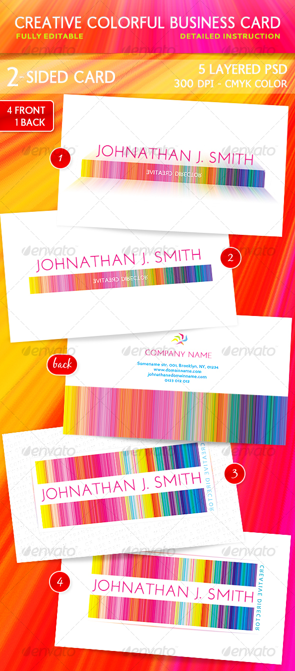 GraphicRiver Creative Colorful Business Card 112301
