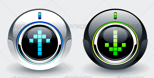 GraphicRiver High tech buttons 100368