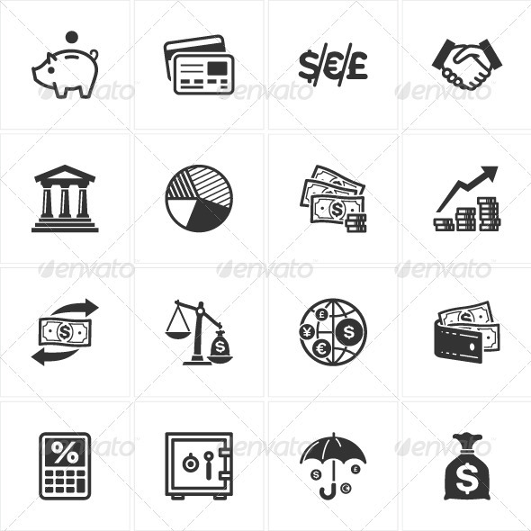 GraphicRiver Finance Icons 3217501
