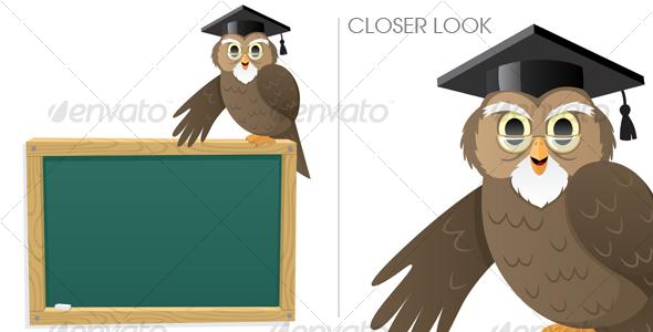 GraphicRiver Owl & Blackboard 113324