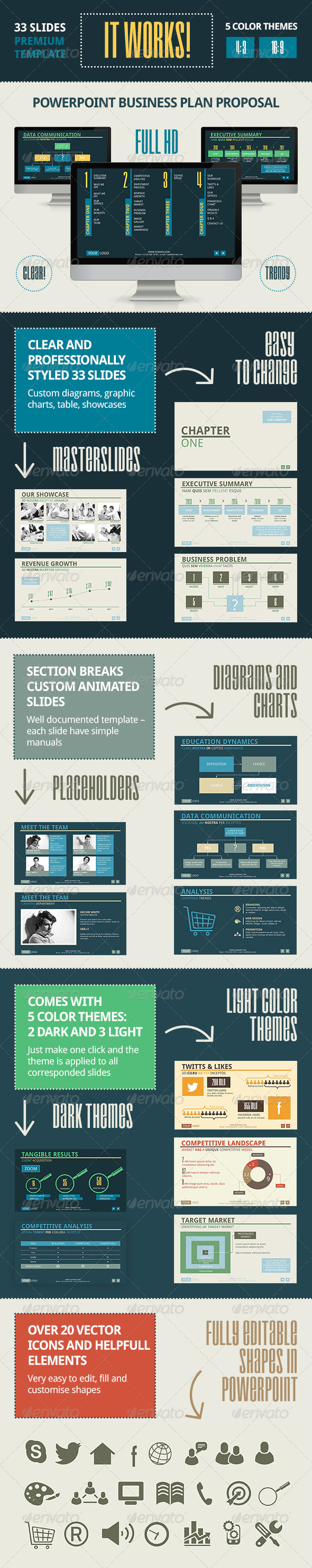 GraphicRiver It Works PowerPoint Template 3224577
