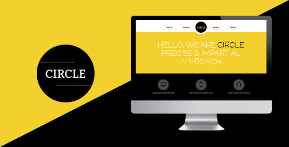 PSD Templates – Circle one page PSD Template | ThemeForest