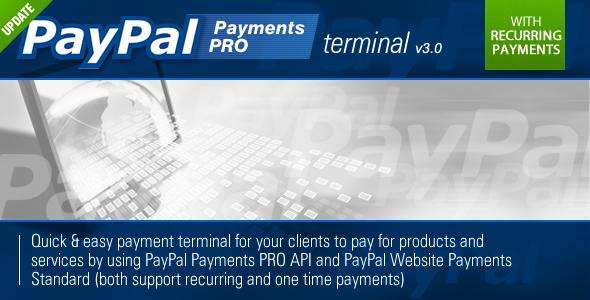 CodeCanyon PayPal PRO Payment Terminal 234015