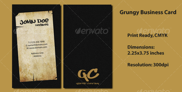 GraphicRiver Grungy Business Card 112759