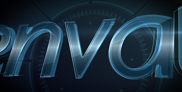 After Effects Project - VideoHive Digital Glass Logo 3227894