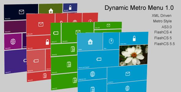 ActiveDen Dynamic Metro Menu Flash AS3 3222438