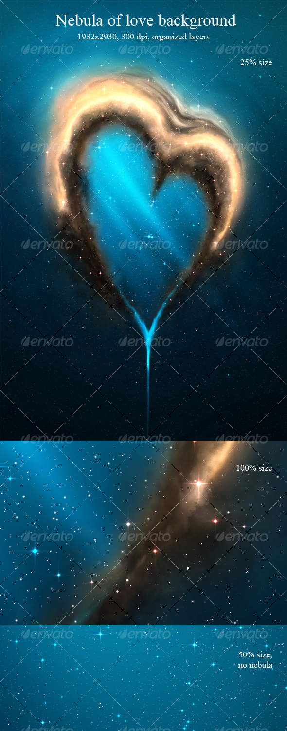 GraphicRiver Nebula of Love Background 113624