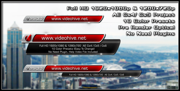 After Effects Project - VideoHive Business Lower Third 3229337