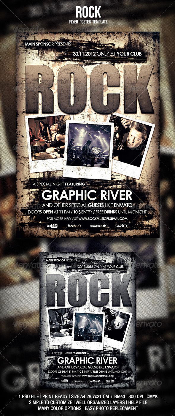 GraphicRiver Rock Flyer Poster 2 3229824