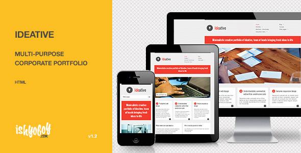 ThemeForest Ideative Multi-purpose corporate portfolio HTML Site Templates Corporate 3195368