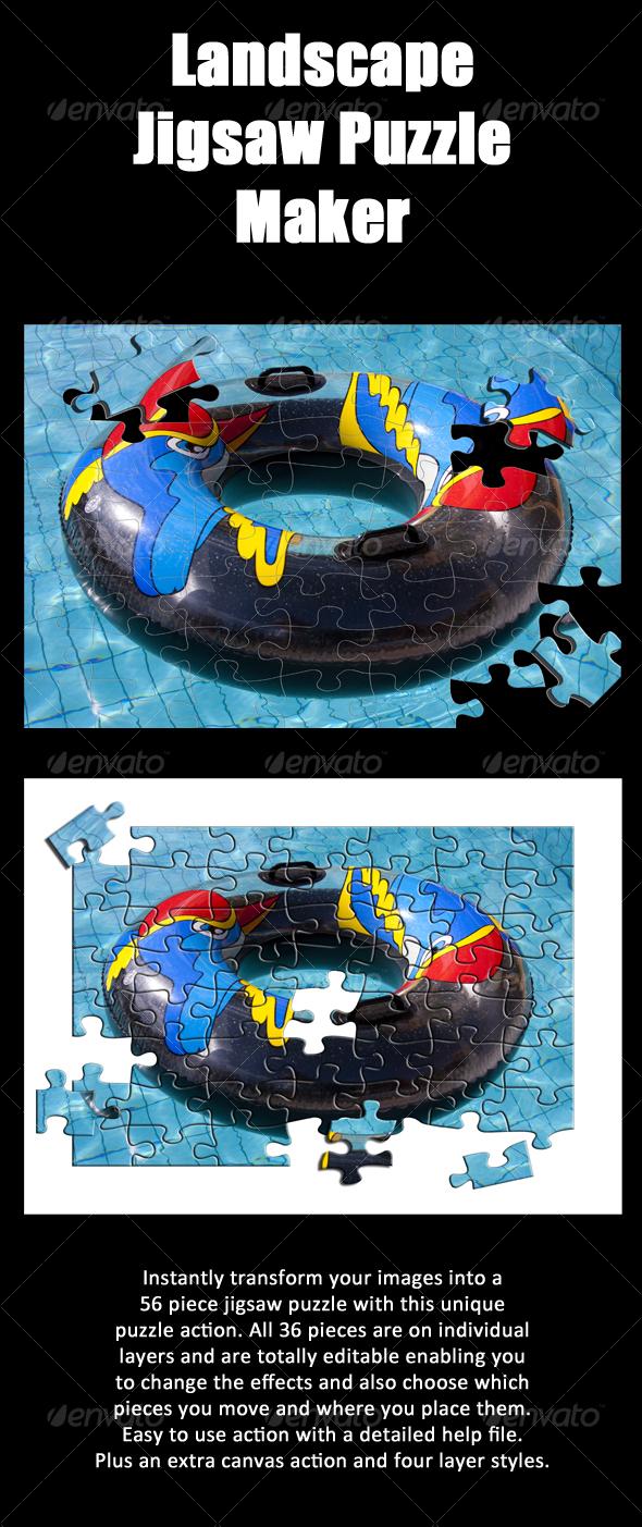 GraphicRiver Landscape Jigsaw Puzzle Action 113781
