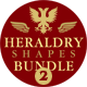 Heraldry Photoshop Shapes Bundle 2 - GraphicRiver Item for Sale