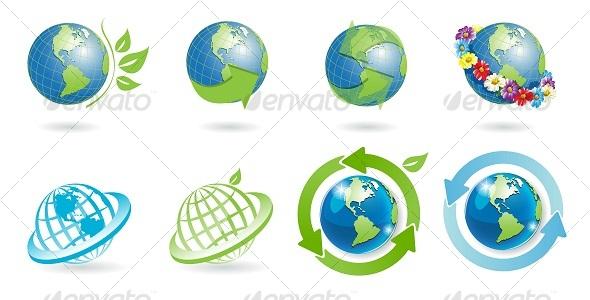 GraphicRiver icons globe 113856