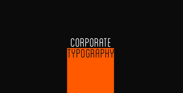 VideoHive Corporate Typography 3234677