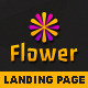 FlowerApp - Mobile Software Landing Page - ThemeForest Item for Sale