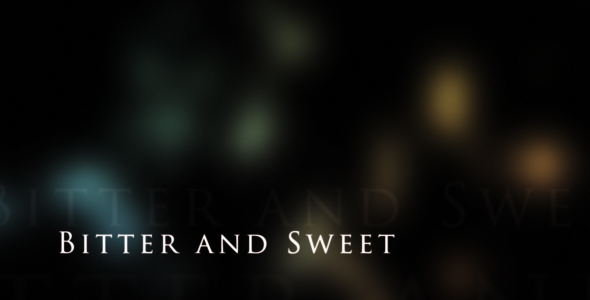 After Effects Project - VideoHive Bittersweet Titles 113886