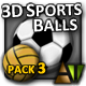 3D Sports Balls - Pack #3 - ActiveDen Item for Sale