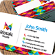 Mosaic Studio Business Card - GraphicRiver Item for Sale