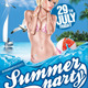 Summer Party (Flyer Template 4x6) - GraphicRiver Item for Sale