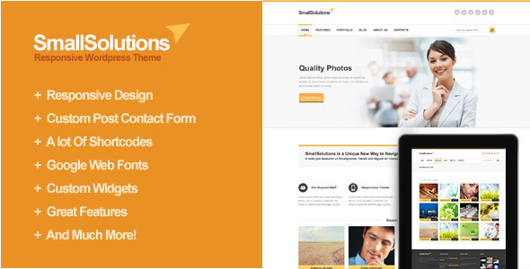 ThemeForest Smallsolutions Responsive Wordpress Template 3202740