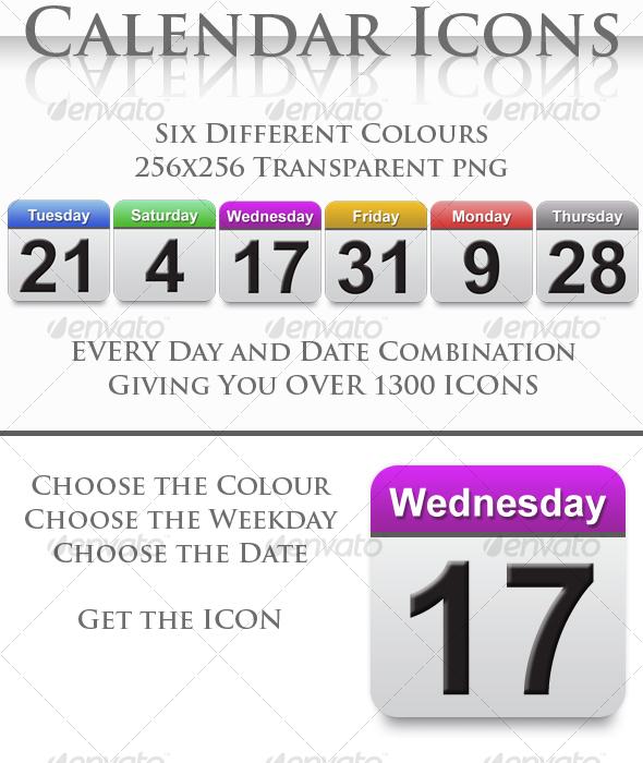 GraphicRiver A Collection of Calendar Icons 114275